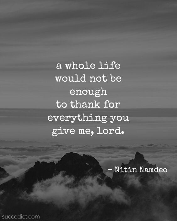 quotes on gratitude to god
