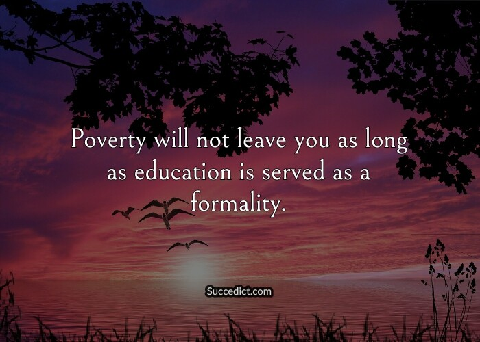 quotes on poverty and education