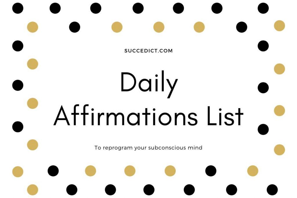 daily affirmations list